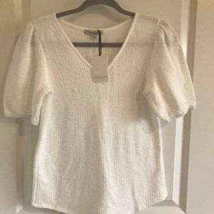 GREEN ENVELOPE women's blouse size S white color